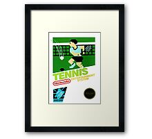 NES Tennis Transparent  Framed Print
