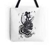 cat and witch Tote Bag