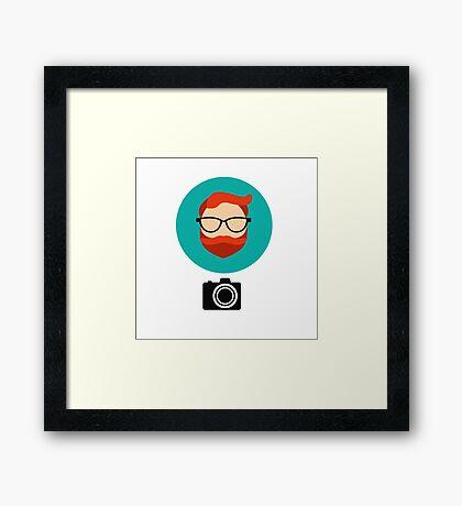 Photographer blogger Framed Print