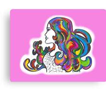 Rainbow Nouveau  Canvas Print