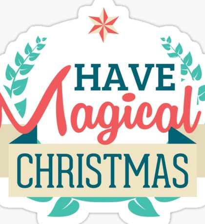 Magical Christmas Sticker