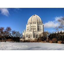 Baha'i House of Worship for the North American Continent Photographic Print