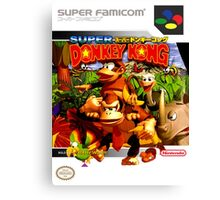 Donkey Kong Country Japanese Cover Canvas Print