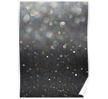There Can Be No Light (Ombré Glitter Abstract) Poster