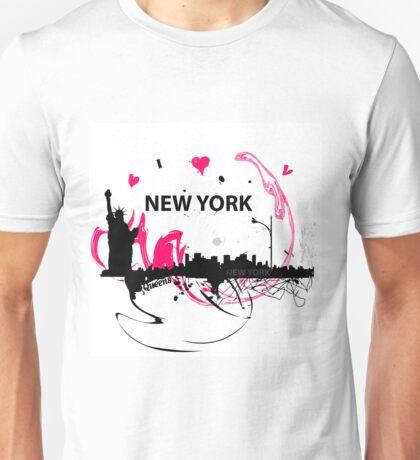 New York Cityscape Art Unisex T-Shirt