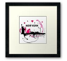 New York Cityscape Art Framed Print