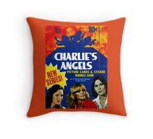 Vintage Charlie's Angels Topps Trading Cards Box Throw Pillow