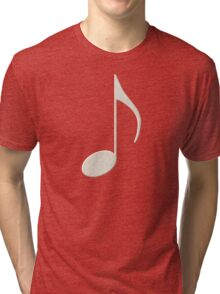 White Music Note Tri-blend T-Shirt