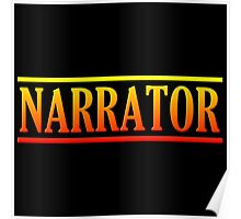 Colorful narrator Poster