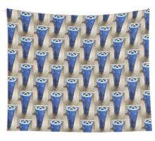 Blue Aluminum  Wall Tapestry