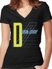 Duran Duran Women's Fitted V-Neck T-Shirt