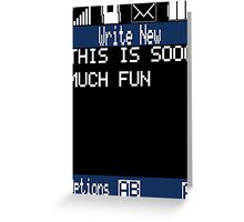 Text Message (black) Greeting Card