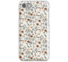 Orange Flower Pattern iPhone Case/Skin