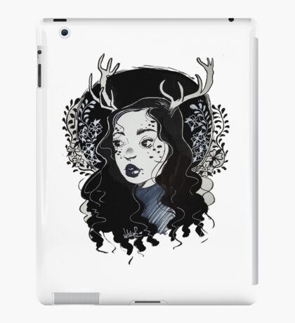 horn girl iPad Case/Skin