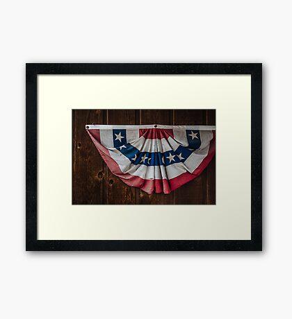 The Vintage Flag Framed Print