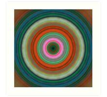 Vivid Peace - Circle Art By Sharon Cummings Art Print
