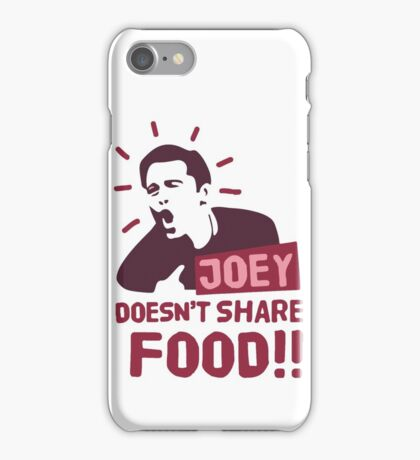 Joey doesn't share food (Red) iPhone Case/Skin