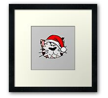 Santa Cat Framed Print