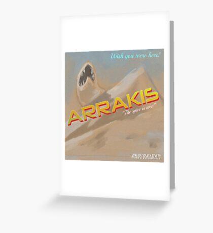 Dune Arrakis Vacation Greeting Card