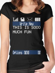 Text Message (black) Women's Fitted Scoop T-Shirt