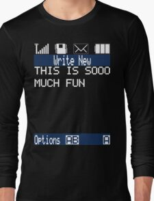 Text Message (black) Long Sleeve T-Shirt