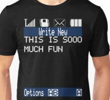 Text Message (black) Unisex T-Shirt