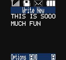 Text Message (black) Unisex T-Shirt