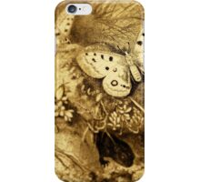 iPhone Case old print ornament embellishment 1884 butterfly iPhone Case/Skin