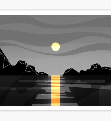 sunset 3 Sticker