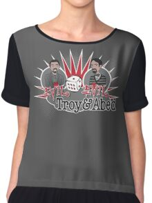 Evil Troy & Evil Abed Chiffon Top