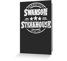 Swanson Steakhouse Greeting Card