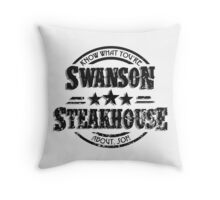 Swanson Steakhouse (inverted) Throw Pillow