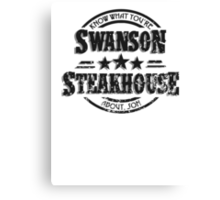 Swanson Steakhouse (inverted) Canvas Print