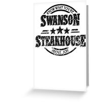 Swanson Steakhouse (inverted) Greeting Card