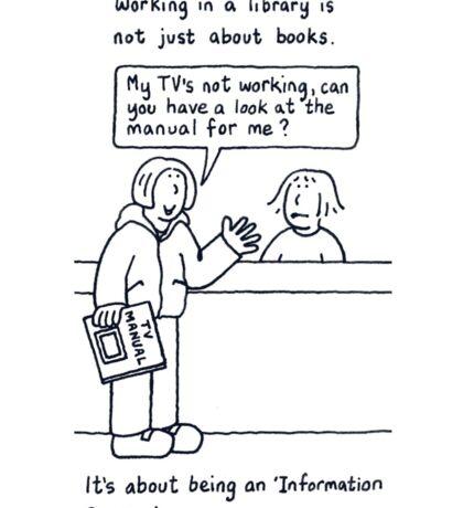 Library Humor. Sticker