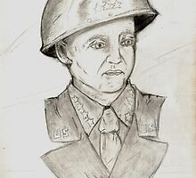 My original Patton Sketch by L Wilson