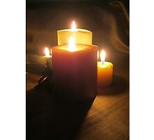 Beauty of Candlelight Photographic Print