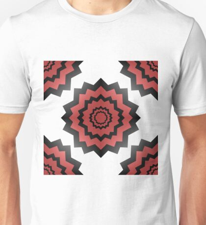 A Pattern of Red Flowers Unisex T-Shirt