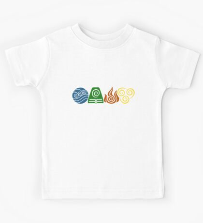 Water, Earth, Fire, Air Kids Tee