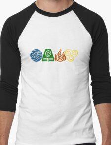 Water, Earth, Fire, Air Men's Baseball ¾ T-Shirt