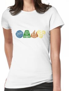 Water, Earth, Fire, Air Womens Fitted T-Shirt