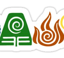 Water, Earth, Fire, Air Sticker