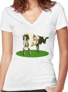 Atom Heart Mother Women's Fitted V-Neck T-Shirt