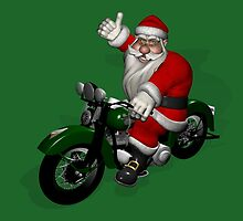 Biker Santa Claus  by Mythos57
