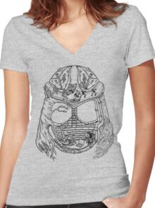 Shred Head Turtles Women's Fitted V-Neck T-Shirt