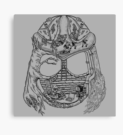 Shred Head Turtles Canvas Print