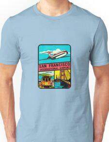 San Francisco International Airport Vintage Travel Decal Unisex T-Shirt