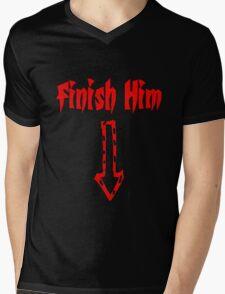 Finish Him Mens V-Neck T-Shirt
