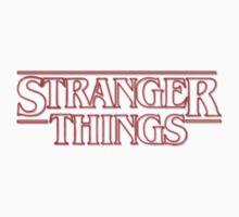 Stranger Things logo One Piece - Short Sleeve
