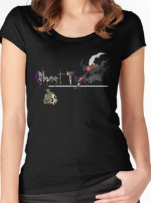 Ghost Type Pokemon Women's Fitted Scoop T-Shirt